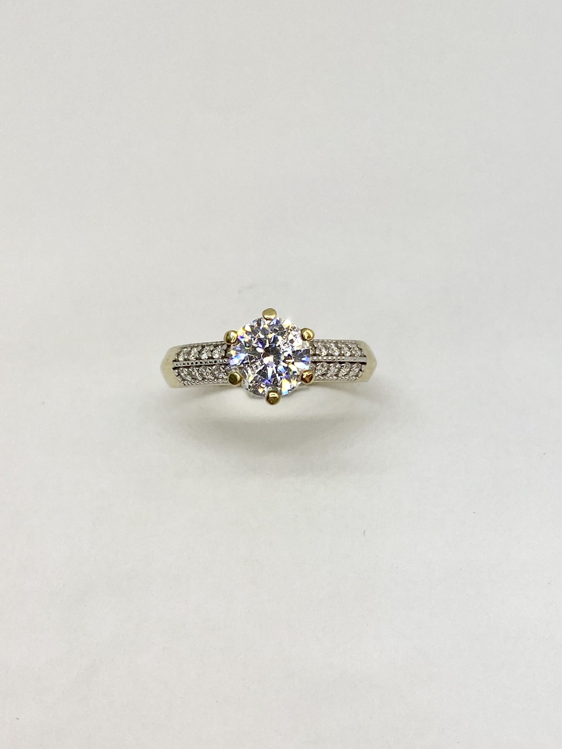 Yellow Gold Cubic Engagement Ring By Design Jewellers Killarney Mall