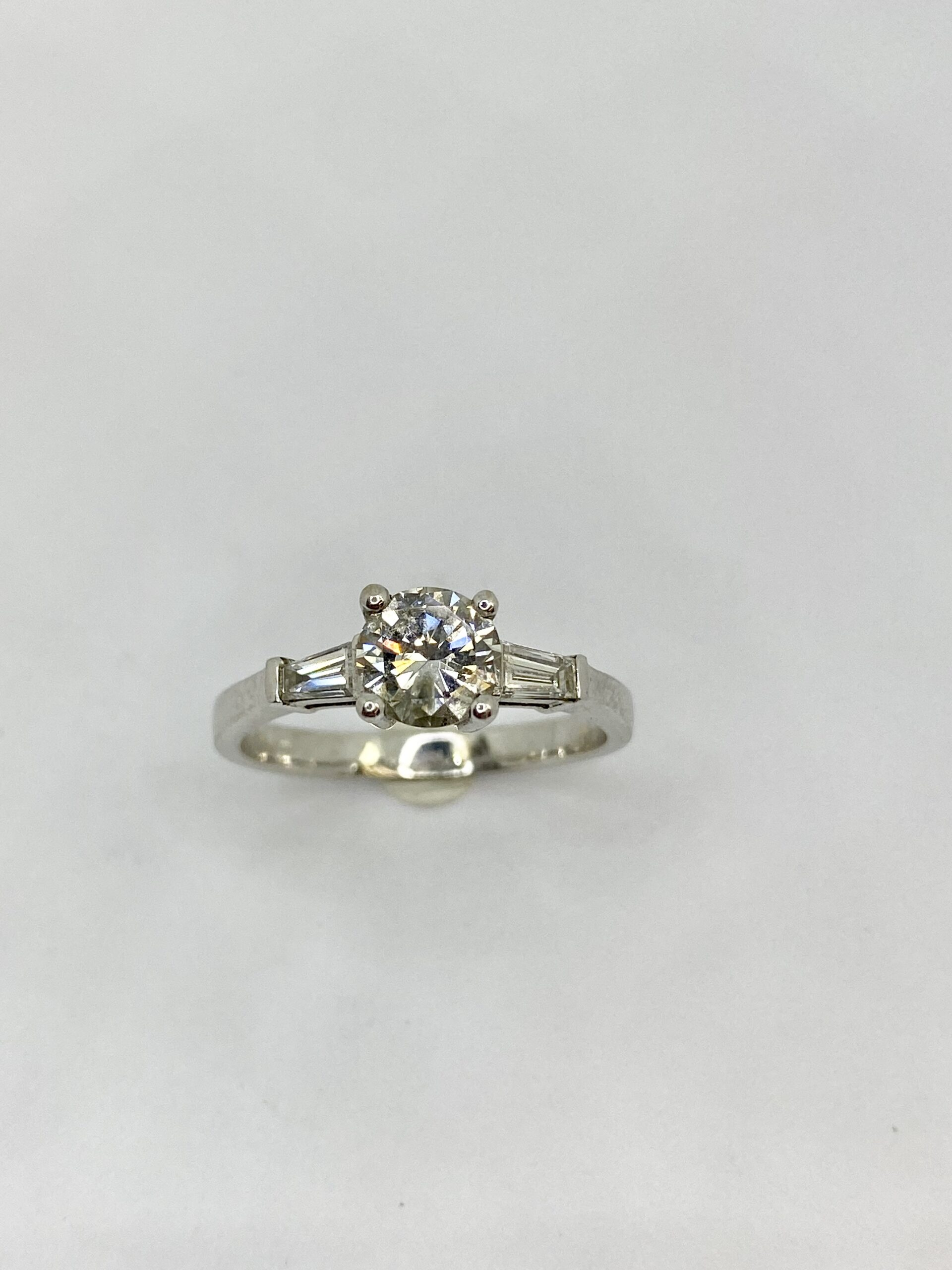 Tapered Baguette Round Diamond Engagement Ring By Design Jewellers Killarney Mall